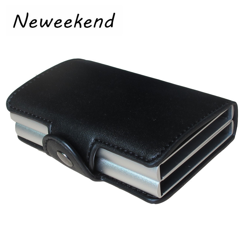 Business Card Box Aluminium PU Credit Card Case Men Women Travel Card Wallet Automatic Pop Up ID Credit Card Holder 40% OFF цена