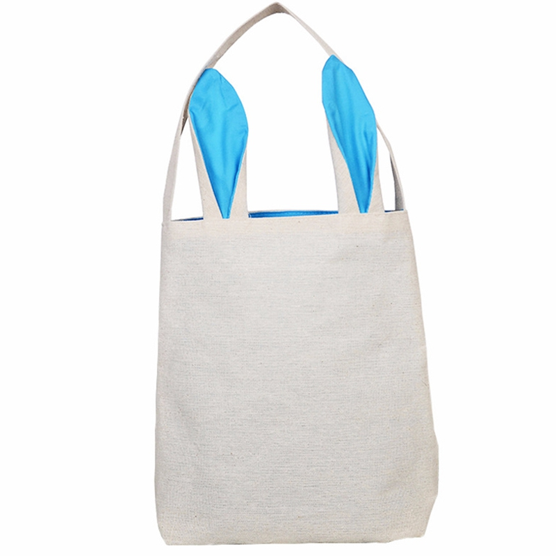 Easter Bag Bunny Ears Cloth Tote Easter Basket For Eggs Candies Gifts Hunting At Easter Party Festival Bag