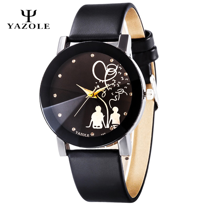 YAZOLE Watch Women 2016 Quartz watch Ladies Quartz Watch Leather Cartoon Wrist Watch Female Clock montre