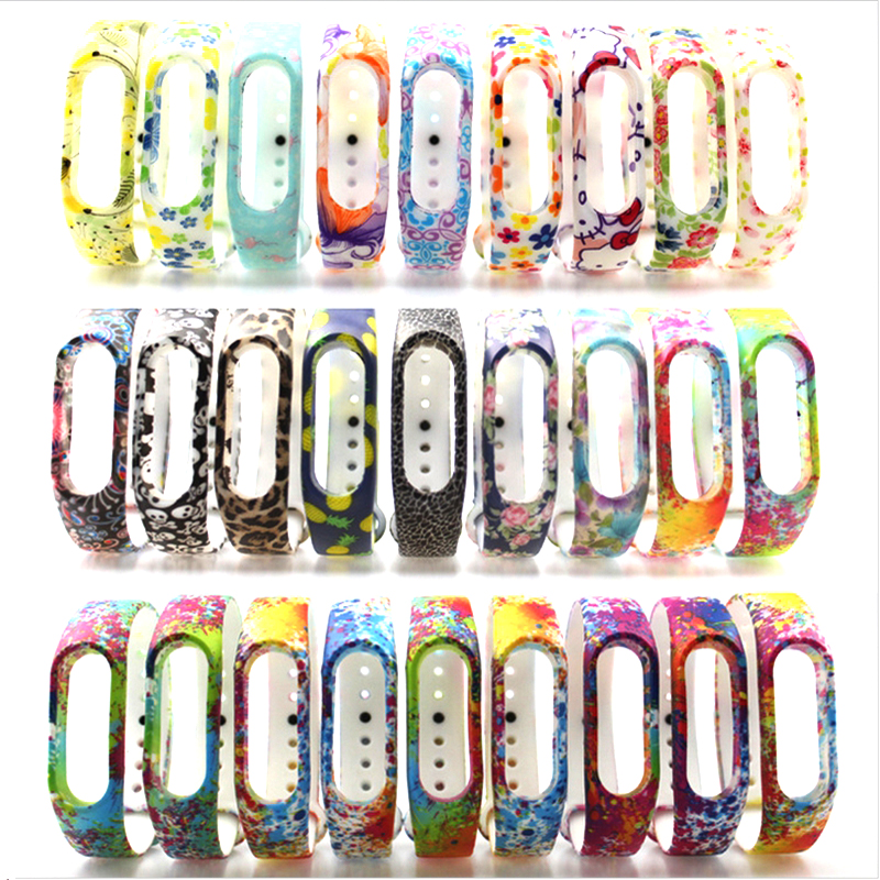HANGRUI Colorful Xiaomi Mi Band 2 Wristband Miband 2 Strap Bracelet Strap Replacement Smart Band Accessories For Mi Band 2 Band 4