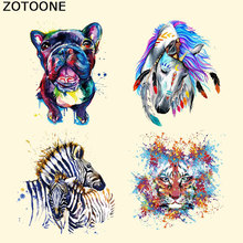 ZOTOON Animal Pattern Patches Heat Transfer Iron on Patch Cartoon Washable Clothes Stickers Easy Print Irons Stick