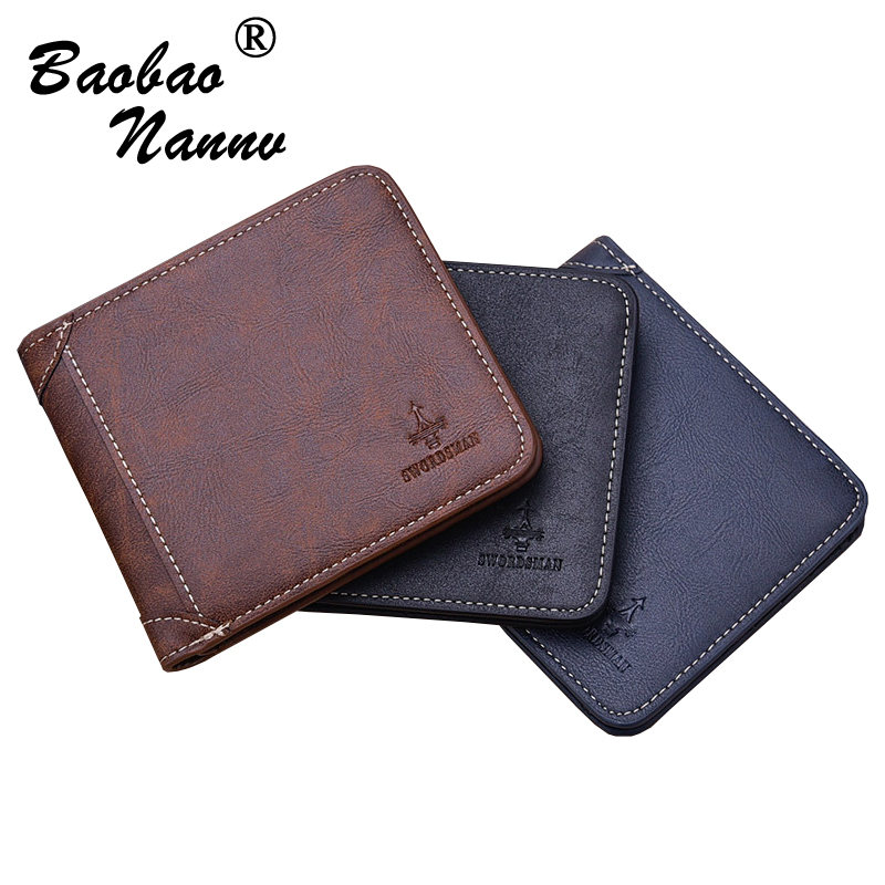 2017 Brand Short Wallet Men Purse Leather Male Vertical Card Coin Holder Vintage Minimalist Purses Money Clip Slim Men Wallets joyir vintage men genuine leather wallet short small wallet male slim purse mini wallet coin purse money credit card holder 523