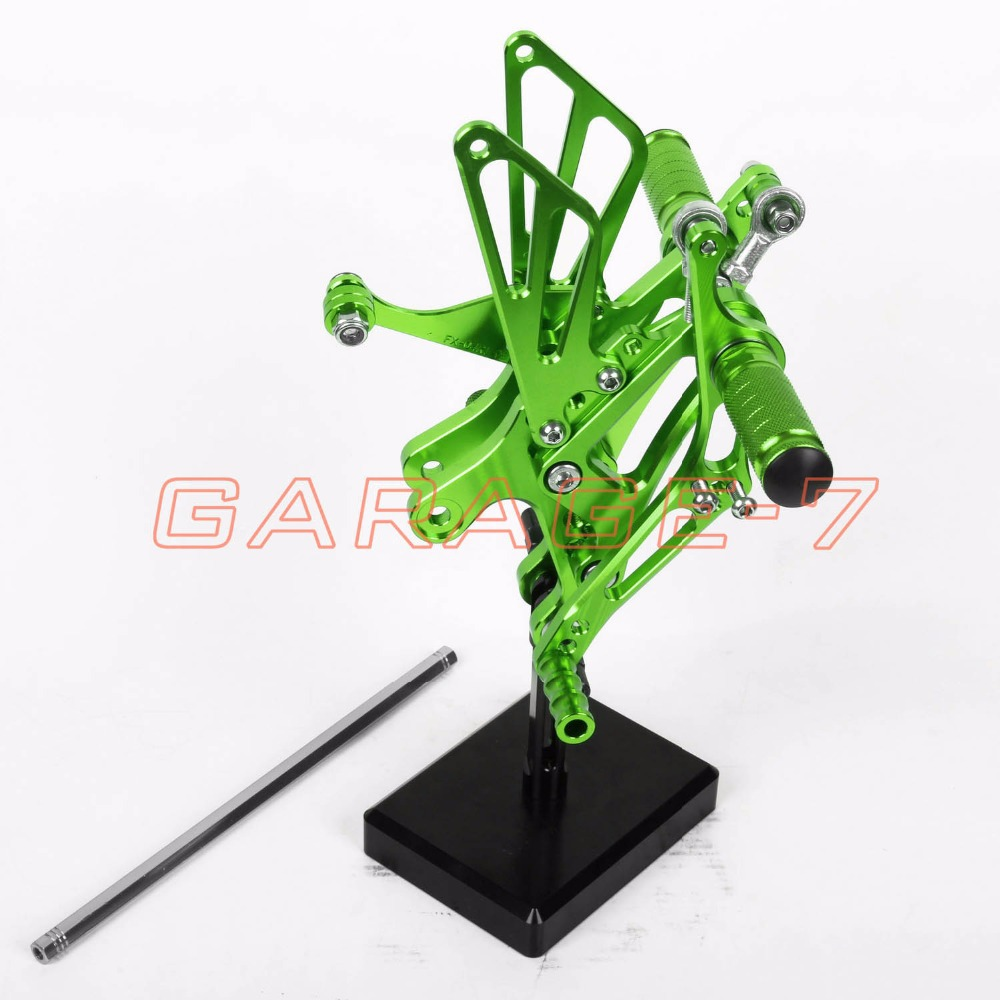CNC Rear sets Foot Rests Rear Set For Yamaha YZF R1 2003 2002 Motorcycle Foot Pegs 6061 Aluminum Alloy  Green