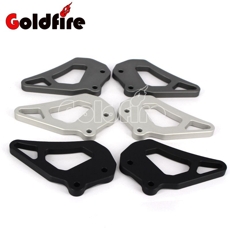 Motorcycle CNC Aluminum Foot rest Foot Pegs Heel Plates Guard Protector For BMW R1200GS LC , R1200GS Adventure 2013-2016 morais r the hundred foot journey