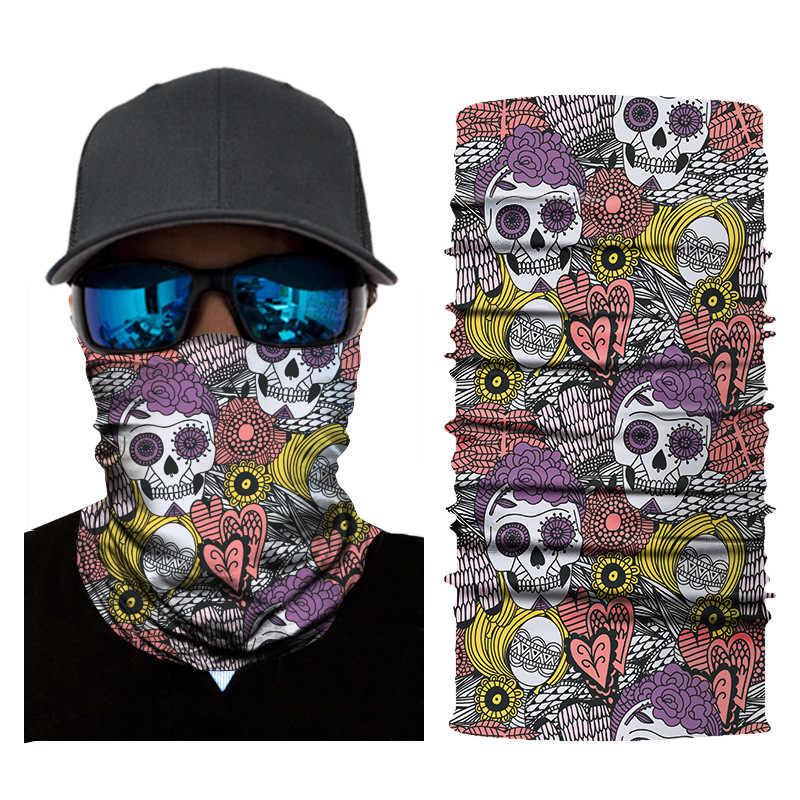 Ciepły kask motocyklowy Liner Ski Paintball Snowboard Biker jazda osłona twarzy kaptur 3D Orcs czaszka motocykl kominiarka czapka kominiarka