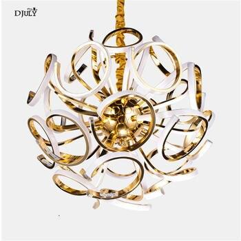 Anneau de luxe américain globe pendentif lumières pour villa salon chambre escalier en colimaçon led luminaire art déco lustre lampe à suspendre