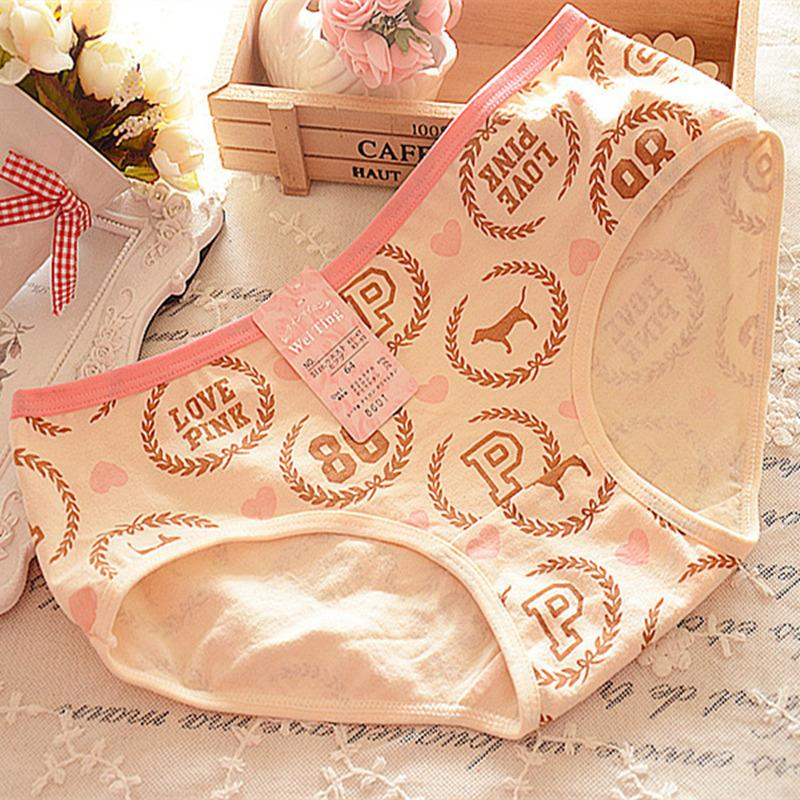 Underwear Women Cotton New Panties Brand 12 Color Cute Lady Calcinha Tanga Sexy Underwear Comfortable Lingerie Girl Briefs