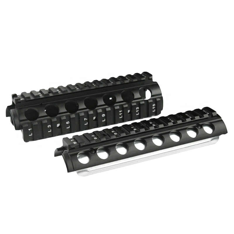 New 6 6 Inch RIS Handguard Picatinny 20mm Rail Mount system with 4 Rail for  M4/ M16 Airsoft AEG