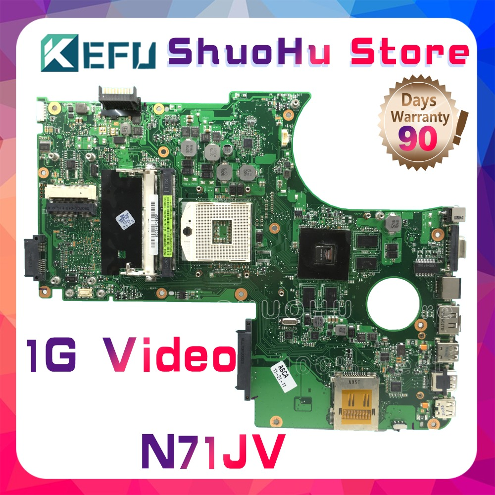 KEFU For ASUS N71JV N71JN N71J REV 2.0 laptop motherboard tested 100% work original mainboard все цены