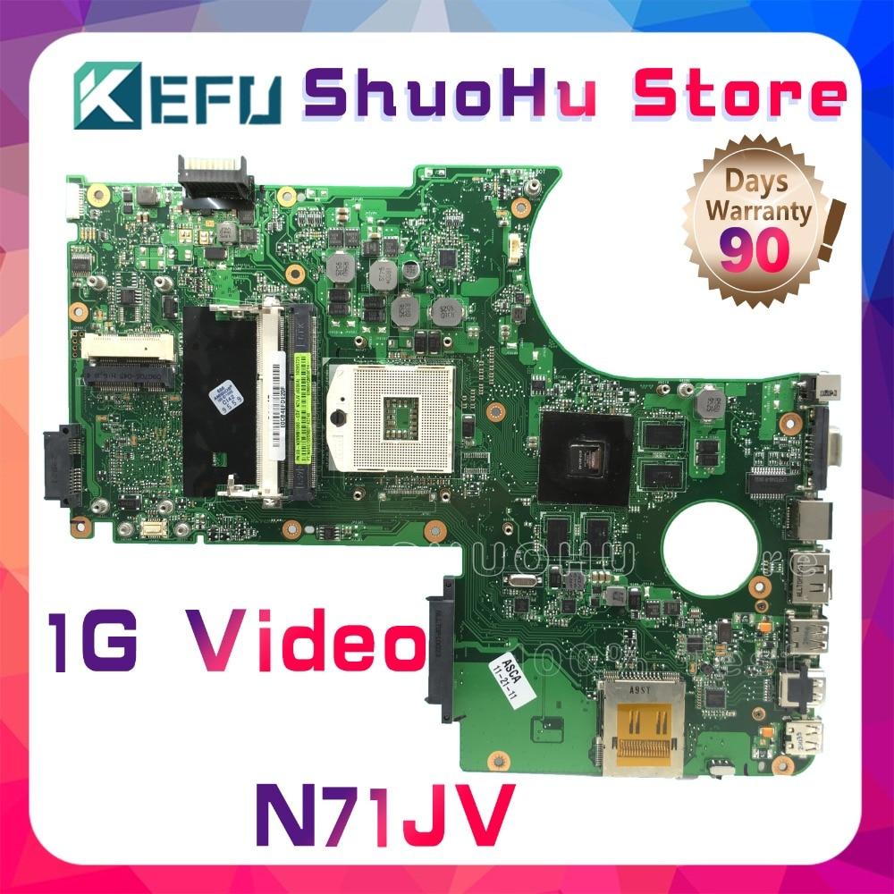 KEFU For ASUS N71JV N71JN N71J REV 2.0 Laptop Motherboard Tested 100% Work Original Mainboard