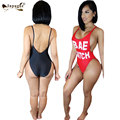 2016 Sexy Summer Beach Wear Baixo Cinta Backless Macacão Bodysuits Mulheres Sol Quente