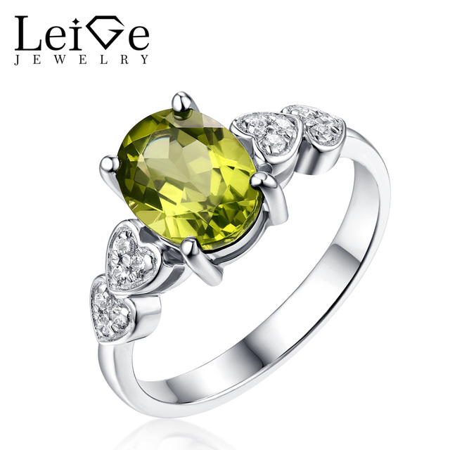Fine Jewelry Womens Green Peridot Sterling Silver Cocktail Ring 1w4leT