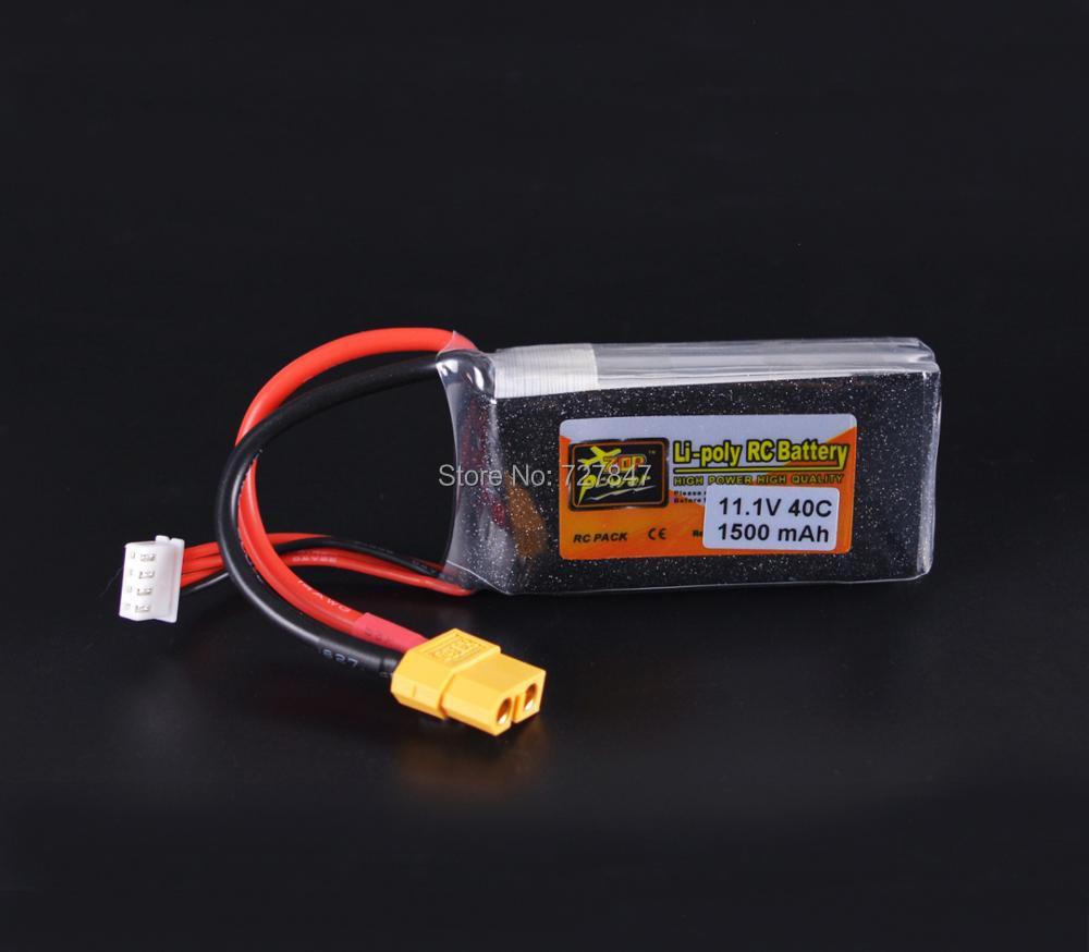 A Quality Reachargeable Lipo Battery ZOP Power 11.1V 1500mAh 40C 3S Lipo Battery XT60 Plug For RC Model ec2 connecteur banane male a xt60 plug adaptateur femelle pour rc lipo batterie t026