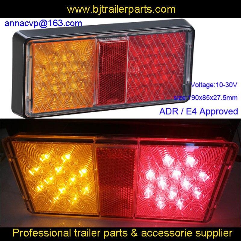 E4 ADR APPROVED 10 30V TRUCK COMBINATION LAMP TRAILER LED LIGHTS TRAILLIGHT TURN SIGNAL STOP BRAKE