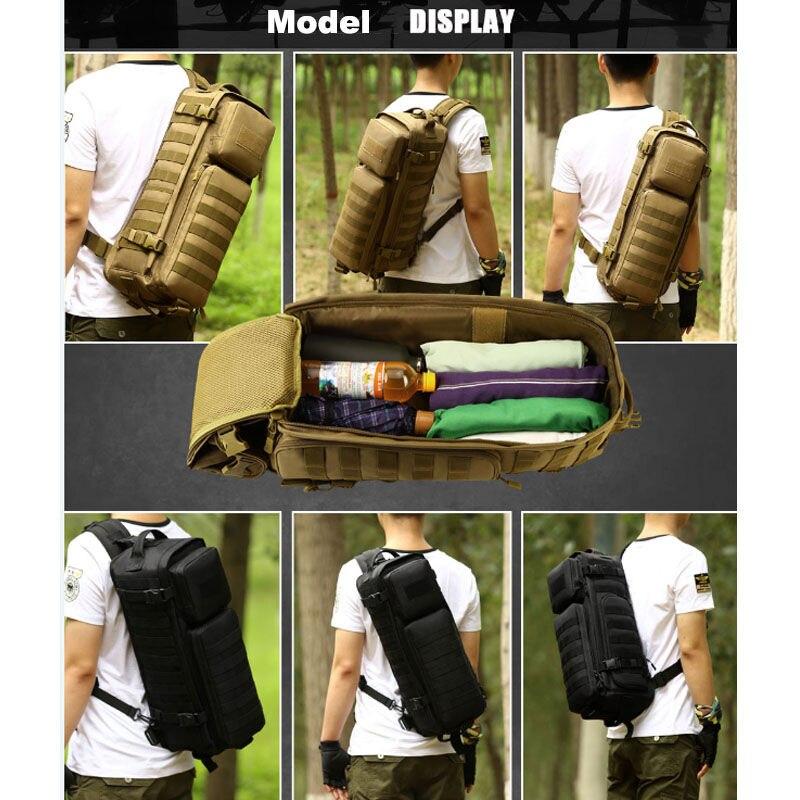 Los hombres pecho mochila hombres bolsas de un solo hombro hombre viajes grandes militares Molle bolsas al aire libre mochila XA495WA - 6