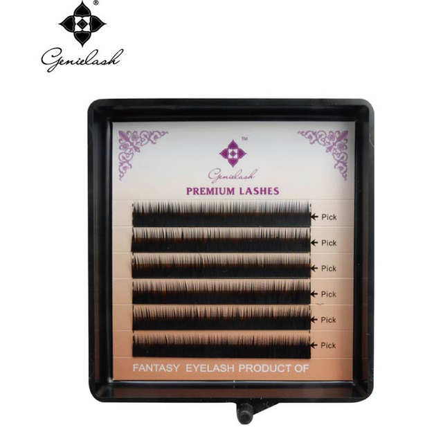 Genie 3pcs/lot Eyebrow Extension Black Color 0.10/ I Curl/5mm 6mm 7mm Salon Use Professional Eyelash Extension