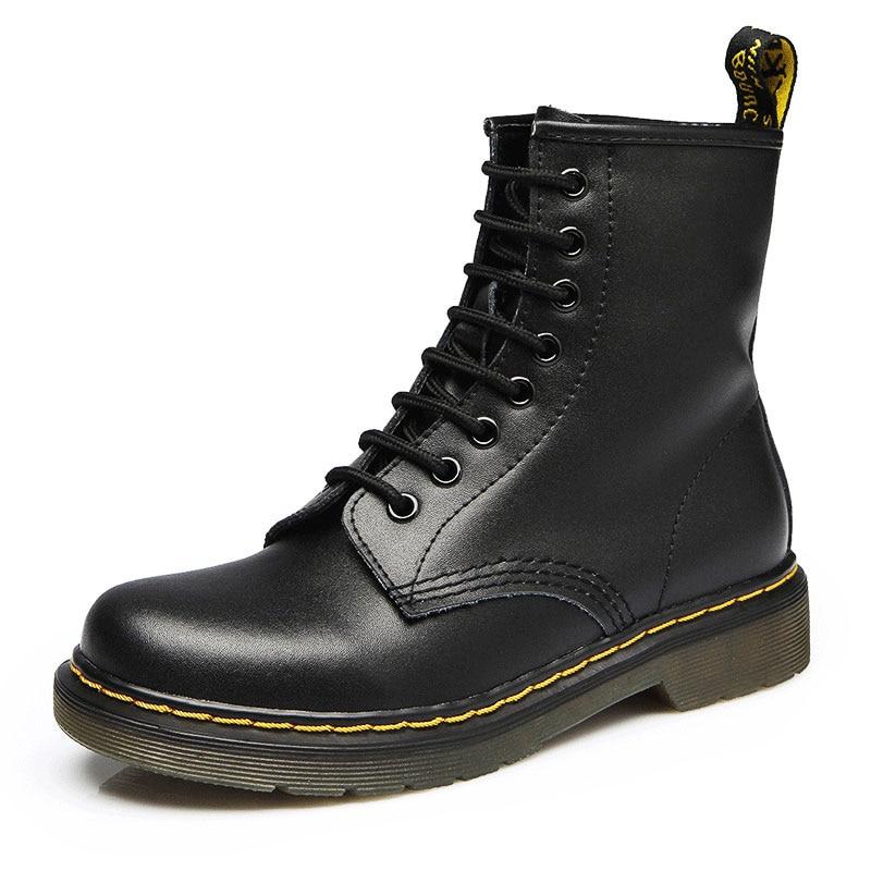 2018 Botas de Mujer zapatos de cuero genuino para Botas de invierno zapatos de moda de Mujer Botas de cuero genuino cálido Mujer Botas de tobillo