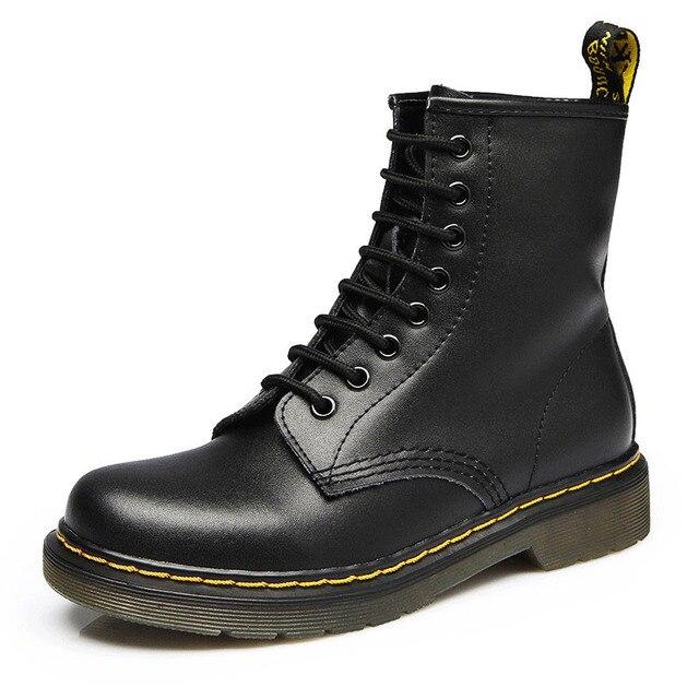 2019 Botas para Mulheres Genuínas Sapatos De Couro Para Sapatos Botas de Inverno Mulher Casual Primavera Couro Genuíno Botas Mujer Feminino Ankle Boots