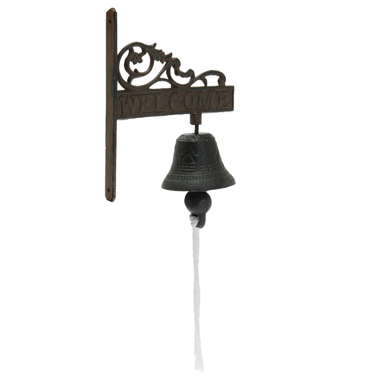NEW Safurance Vintage Style Brown Metal Cast Iron Door Bell Wall Mounted Garden Decoration Door Intercom new vintage style rusted dog cast iron door bell wall mounted garden decoration access control