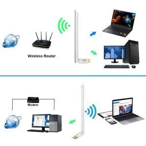 Image 5 - Adaptador wifi USB 650Mbps receptor inalámbrico Dongle Ethernet tarjeta de red 6dBi antena para Windows XP/7/8/8. 1/1 Mac OS10.6 10.15