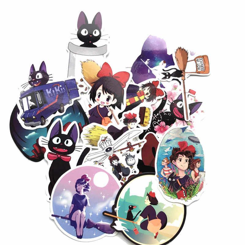 15 pçs/set Japão Anime Meninas Serviço de Entrega de Kiki Adesivos para Pad Telefone Caso Laptop Skate Capacete Da Bicicleta Da Bicicleta Do Carro Mala