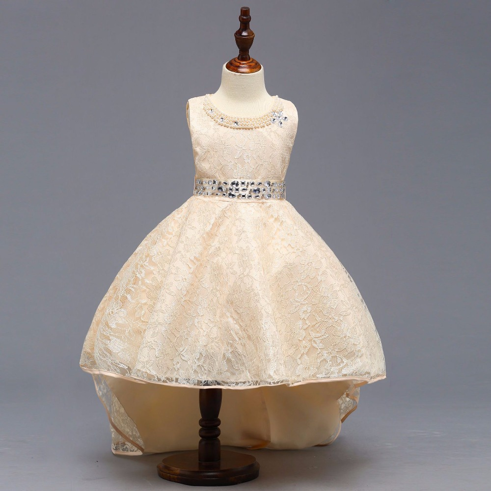 High Quality Beaded   Flower     Girls     Dresses   For Party Lace First Communion Candy   Dresses