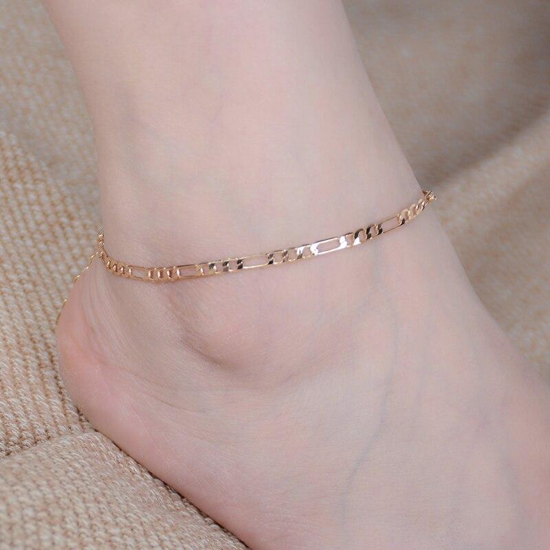 Women Girls Gold Plated Chain Ankle Bracelet Anklet