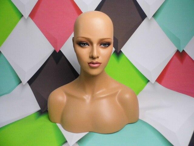 Kobiet realistyczne głowa manekina sprzedaż dla peruka hast i biżuteria wyświetlacz w Manekiny od Dom i ogród na  Grupa 2