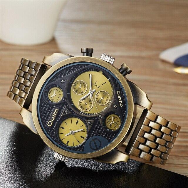 5ce708ddfb92 Oulm relojes grandes de marca de lujo para hombre