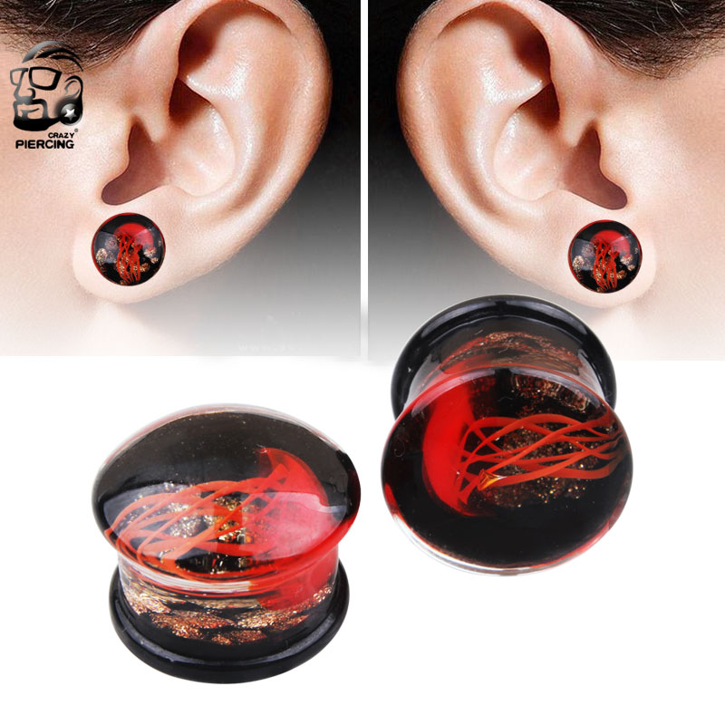 Tunnel Silikone Plug Flesh Piercing Double Flared Ohr Ohrschmuck weiss