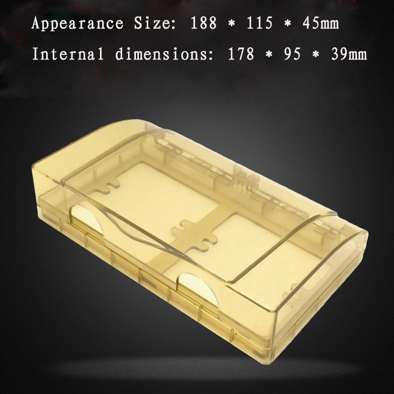 цена на 2pcs 86-Type Switch Socket Waterproof Box Kitchen Anti-oil Two-panel Protective Cover Champagne Transparent Splash Box