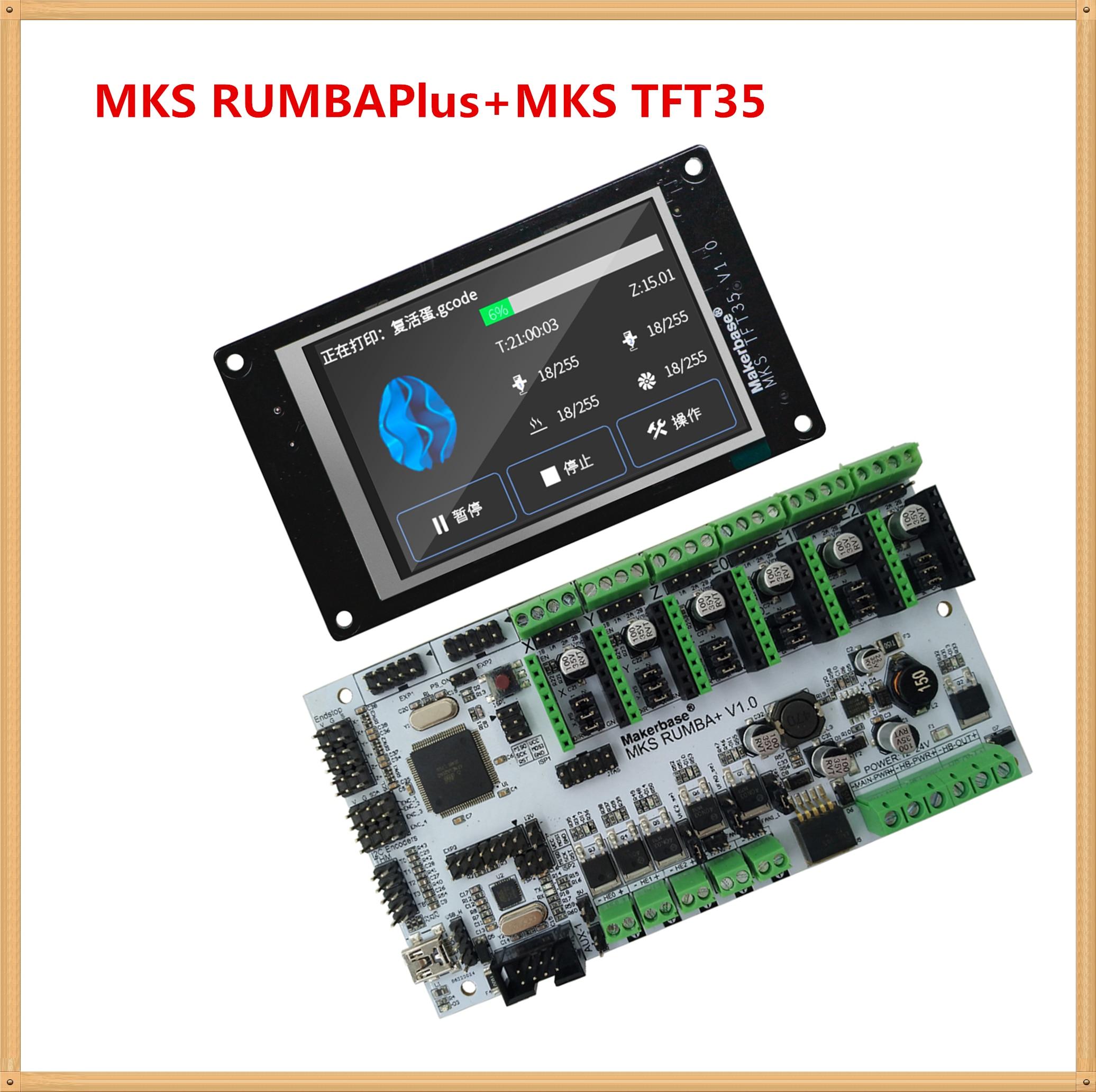 3d imprimante affichage MKS TFT35 écran tactile + MKS RumbaPlus mère carte FDM imprimante bricolage kit de contrôle Rumba Plus TFT 3.5 LCD