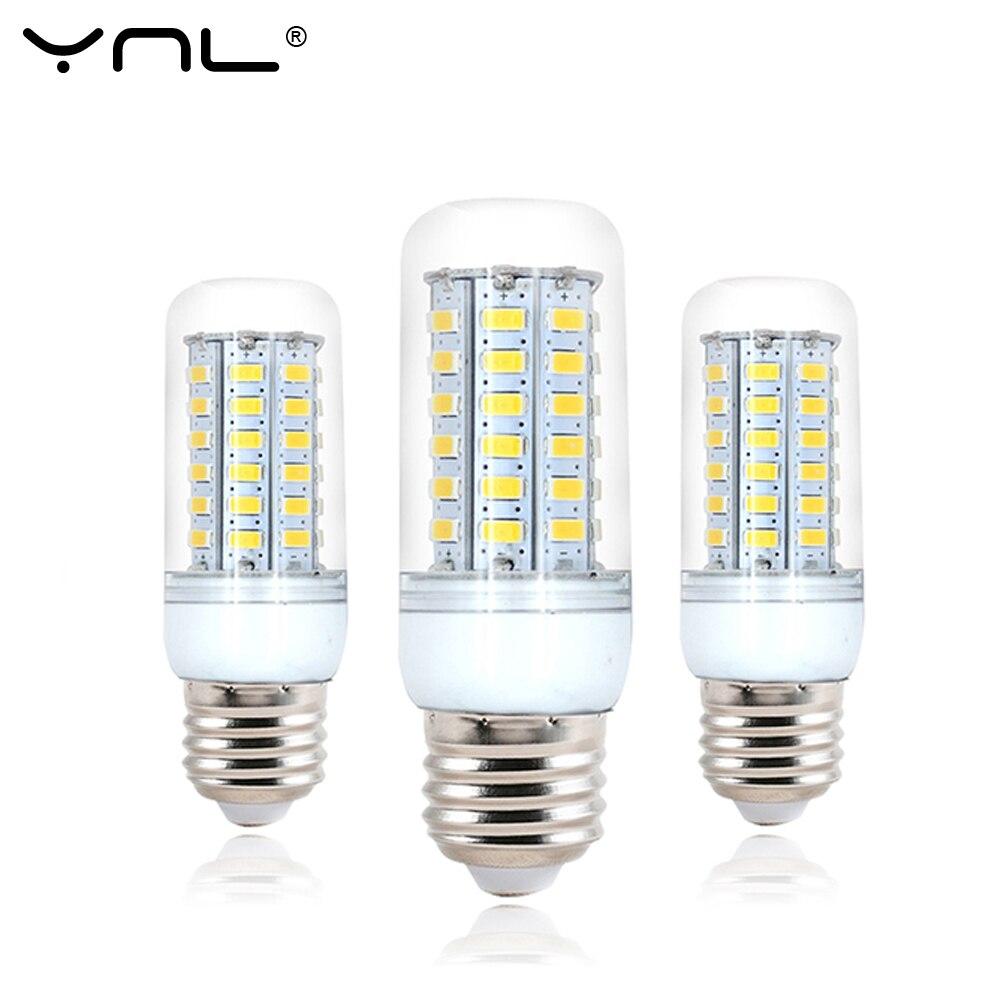 YNL 220V Bombillas LED Lamp Bulb E27 5 24 38 48 56 69LEDs SMD5730 lamparas Lampada