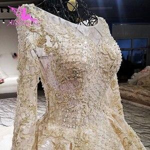 Image 1 - AIJINGYU robe de mariée blanche brillant Satin robes Train combinaison indienne Tulle en ligne Designer bouffante dentelle robe robes de mariée en