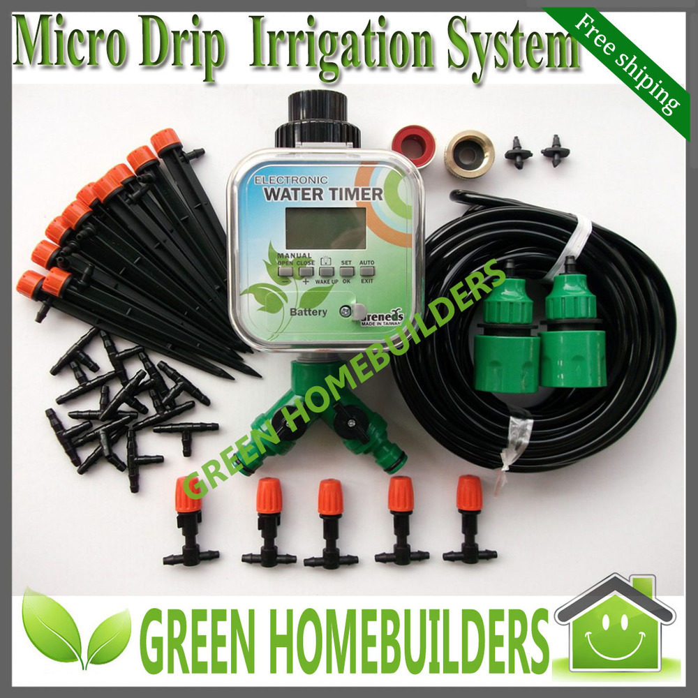 free shipping solar power plant micro drip irrigation kit with