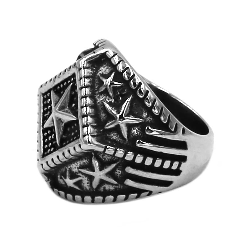 Five-Pointed Star 316L Stainless Steel Ring