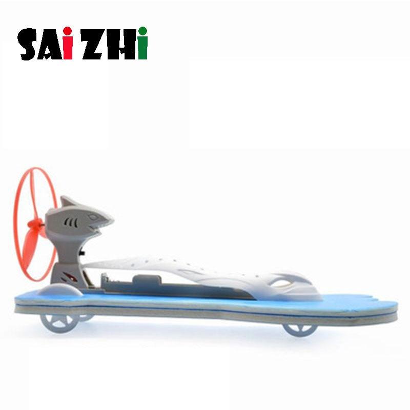 Saizhi Model Toy Diy Aerodynamic Speedboat Developing Intellectual STEM Motor Toy Science Electric Toy Birthday Gift SZ3273