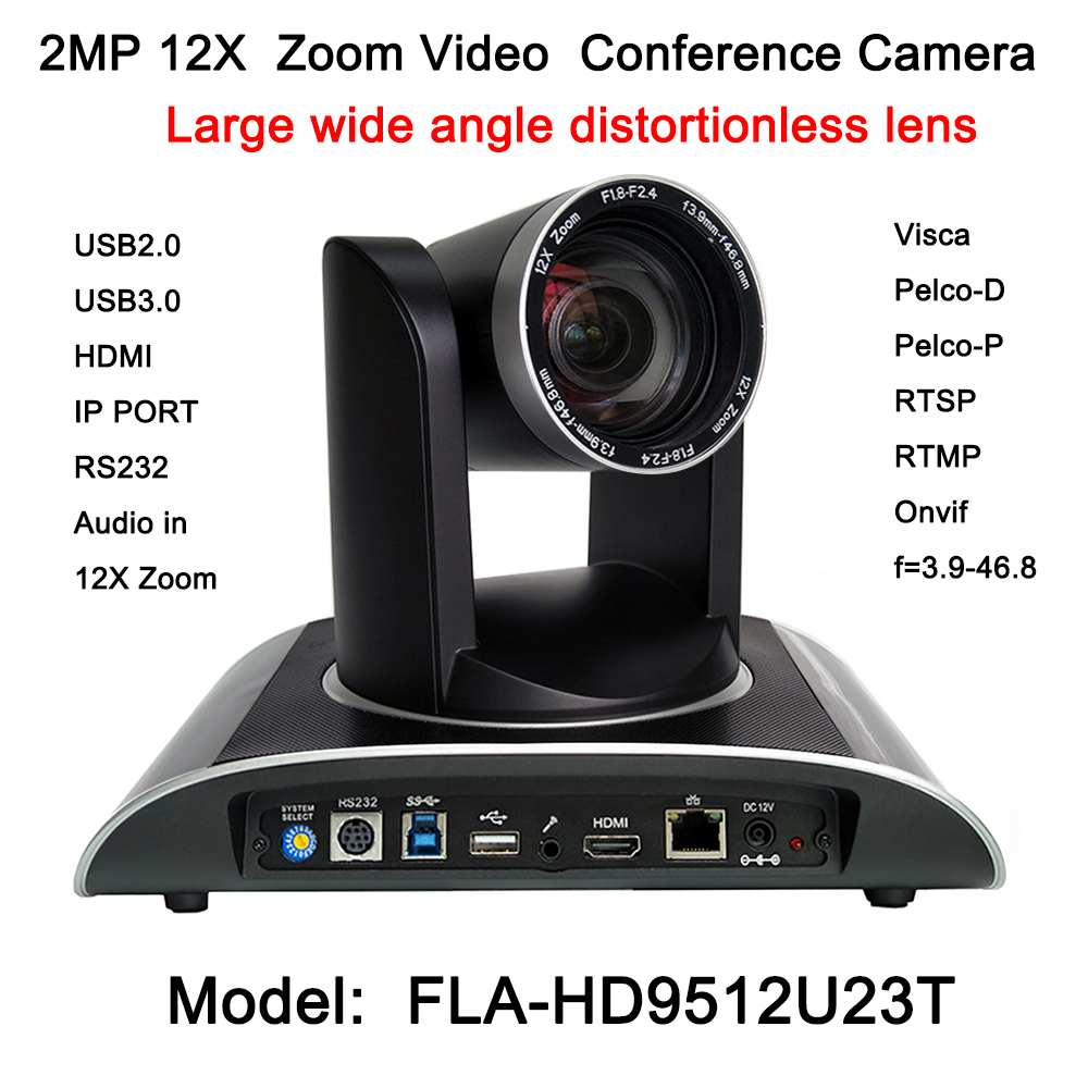 2MP HDMI Full HD Broadcast 12X Zoom PTZ Video Conference Camera Audio with IP USB2.0 USB3.0 Interface ikecix u12x 2m 12x zoom usb 1080p video conference camera microphone