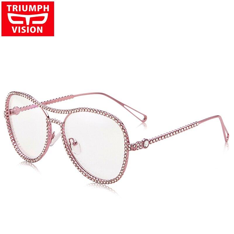 TRIUMPH VISION Pink Glasses Frame Women No աստիճանի - Հագուստի պարագաներ - Լուսանկար 1