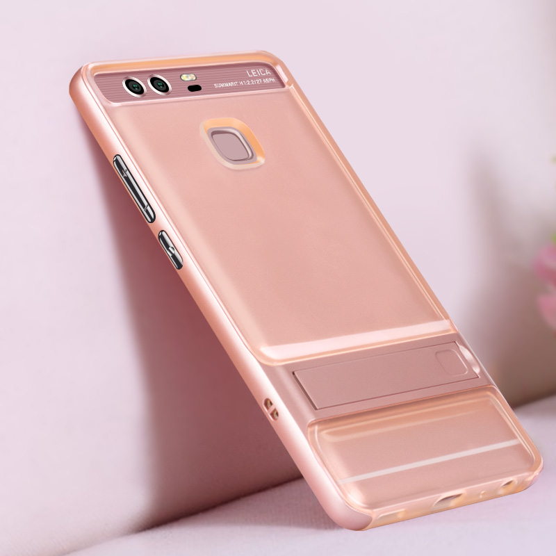 Brand New Innovative 3D Kickstand Hybrid Case Huawei P9 Silicone Cover 5.2