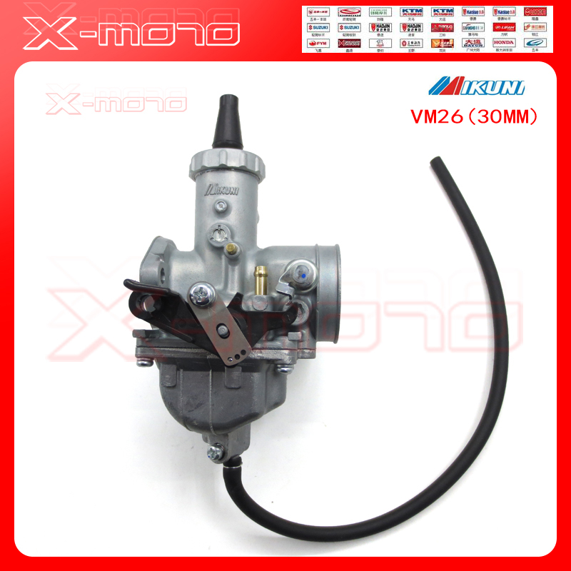 30mm Mikuni VM26 Carburetor Carby Carb For 150cc 160cc 200cc 250cc CRF KLX TTR XR Pit Dirt Bikes Motorcycle Motorbike mikuni carburetor vm24 28mm round slide carburetor for 150cc 200cc 250cc atv quad buggy go kar carb free shipping