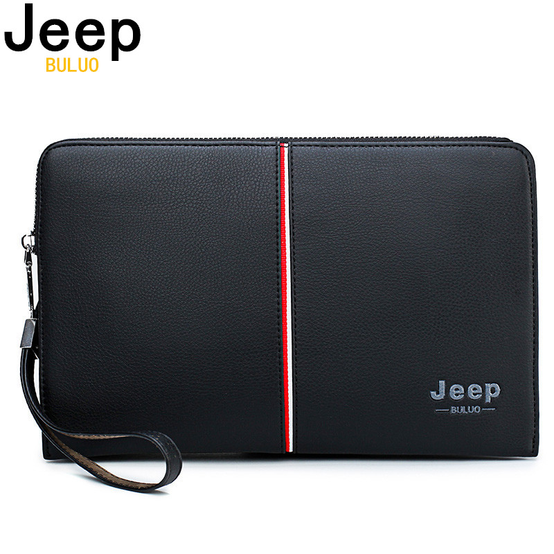 Men's Handbag Clutches-Bags Leather Wallet Jeep Buluo Large-Capacity High-Quality Luxury Brand