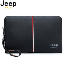 JEEP BULUO Luxury Brand Men's Handbag Day Clutches Bags For Phone High Quality S