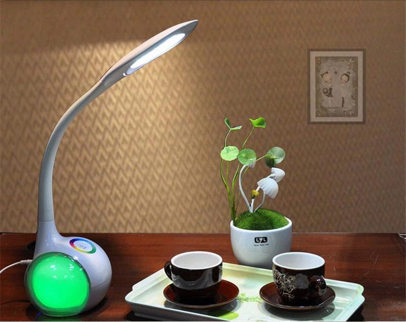 Led Leeslamp Slaapkamer : Beste koop moderne creatieve kleurverandering led bureau tafellamp
