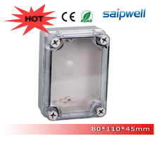 Free Shipping ABS indoor/out door Light Insulation Corrosion proof Clear Cover Waterproof Electrical Distribution Box