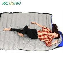 Açık Ultra Hafif Kamp Uyku Tulumu Zarf Beyaz Ördek Aşağı Uyku Tulumu Kış Kapşonlu Ekleme Uyku Tulumu 1500/1700/1900