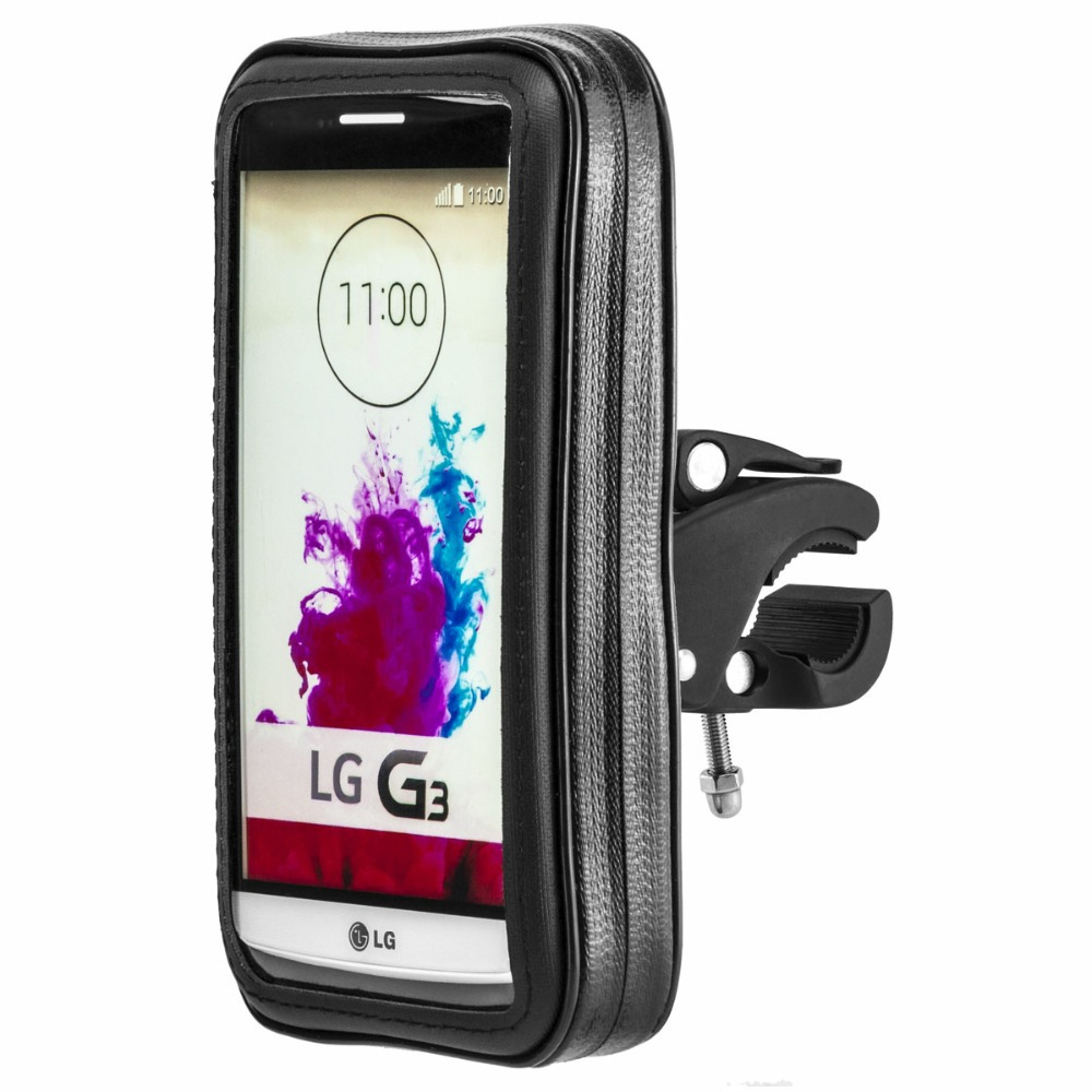 reputable site e5dd7 50b52 US $14.88 |360 Rotary Bike Motor Holder Waterproof Case Pouch For Lg G5 G2  G3 G4 G4c Motorcycle Mount Zipper Mobile Phone Sport Cases-in Mobile Phone  ...