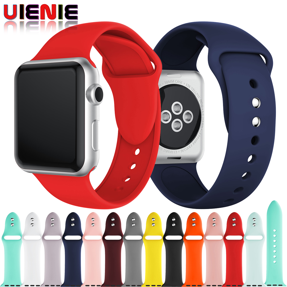 42mm 38mm Watch Strap For Apple Watch Band iWatch Series 4 3 2 1 Replacement Straps Wrist Watch Bands Fashion Silicone strap 20 colors sport band for apple watch band 44mm 40mm 38mm 42mm replacement watch strap for iwatch bands series 4 3 2 1