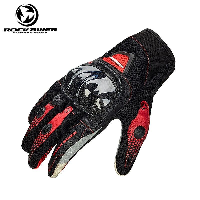 ROCK BIKER Breathable Men&Women Motorcycle Gloves Guantes Motocross Moto Riding Gloves Motorbike For Harley Bmw Kawasaki etc