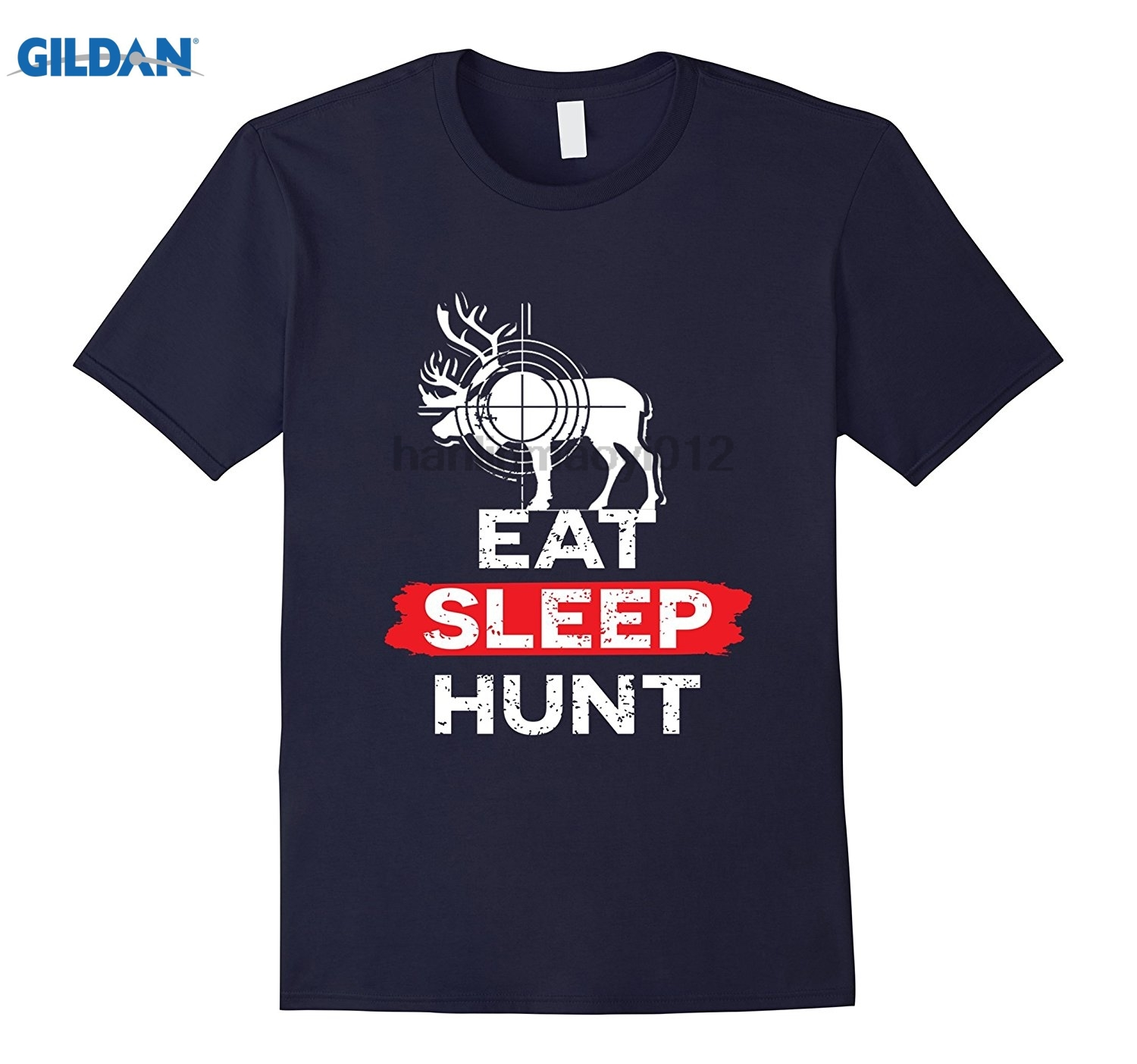 GILDAN Deer T shirt - Eat Sleep hunt for Bow And Gun hunter sunglasses women T-shirt ...
